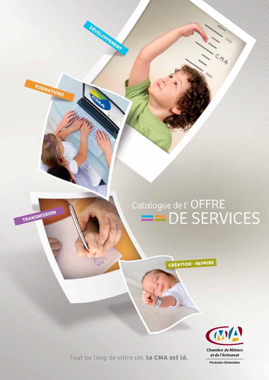 Catalogue de l 39 offre de services chambre de m tiers des for Chambre de service