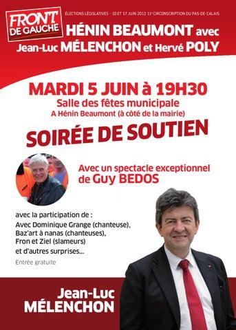Hénin-Beaumont : Mardi 5 juin, soirée de soutien à Jean-Luc Mélenchon dans Culture page_1_thumb_large