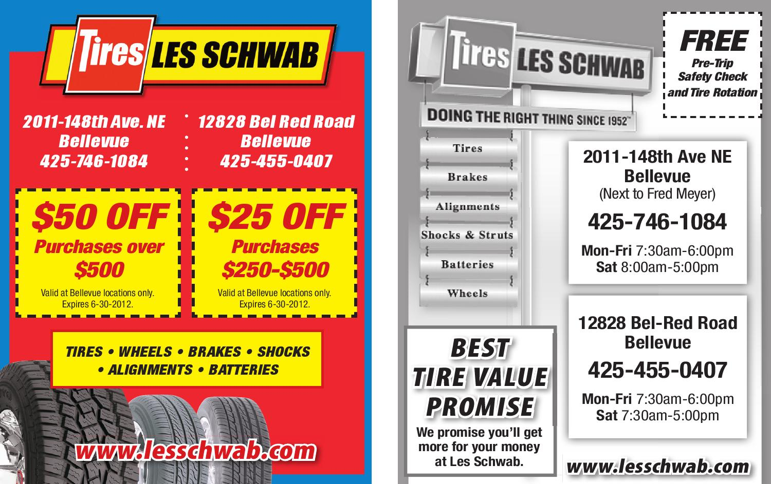 photograph relating to Les Schwab Brake Coupons Printable identify Schwab coupon code : Refinance specials