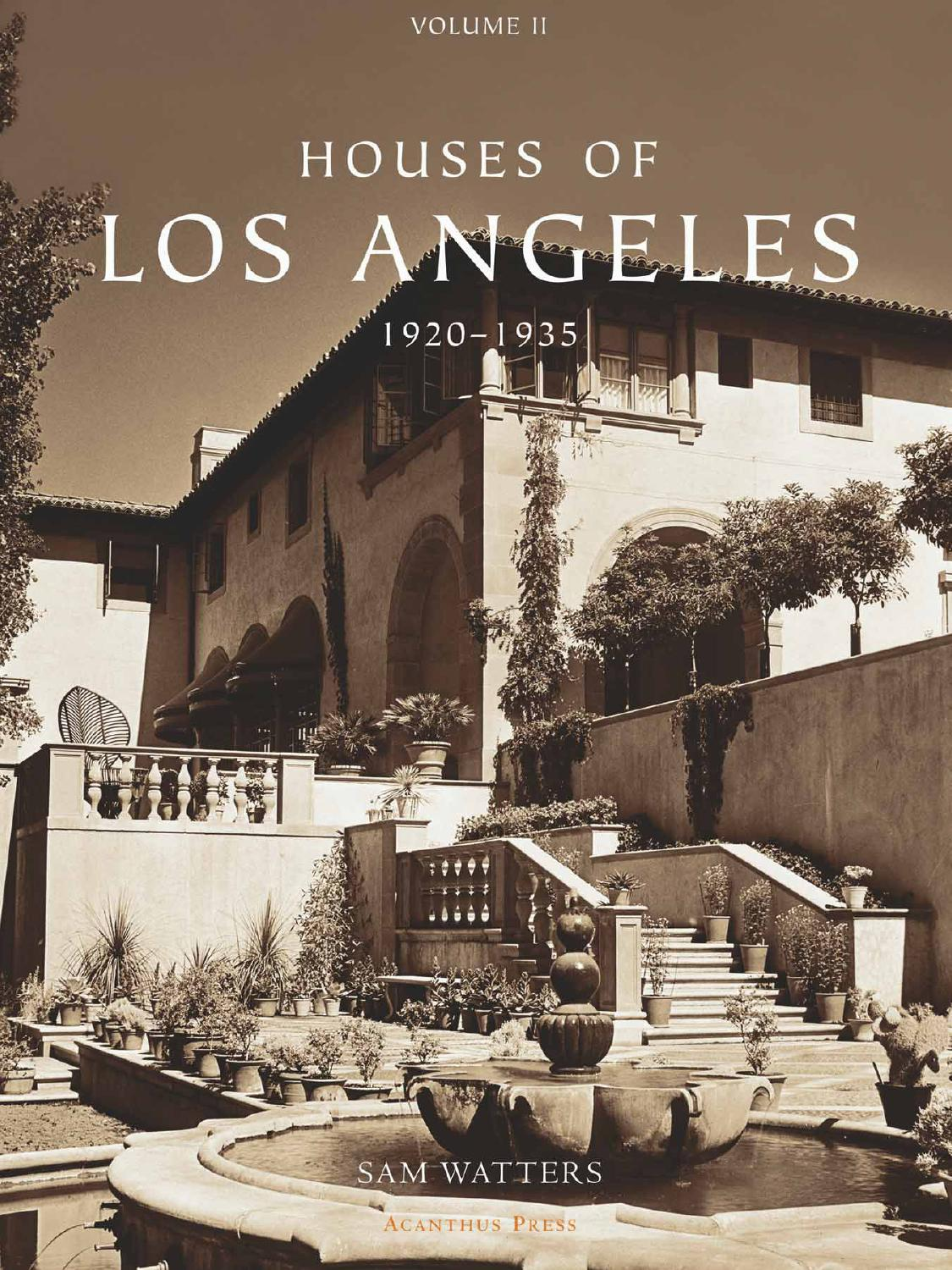 Issuu Houses Of Los Angeles 1920 1935 By Acanthus Press Llc