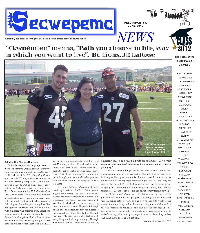 Issuu Secwepemc News By Secwepemc News