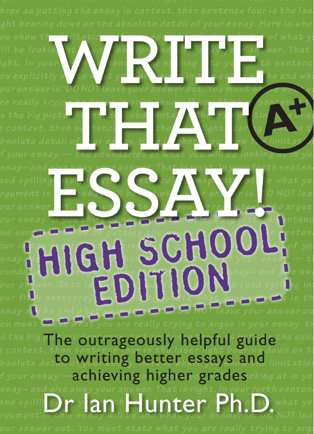 how to write an essay introduction high school