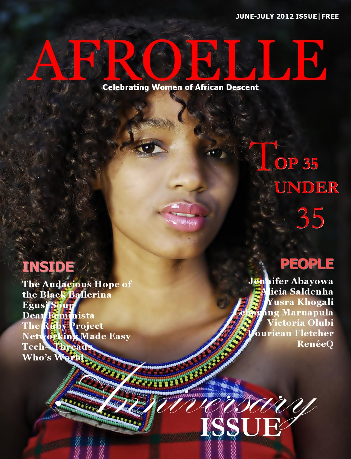 Issuu afroelle magazine 2012 anniversary issue by for Anniversary magazine