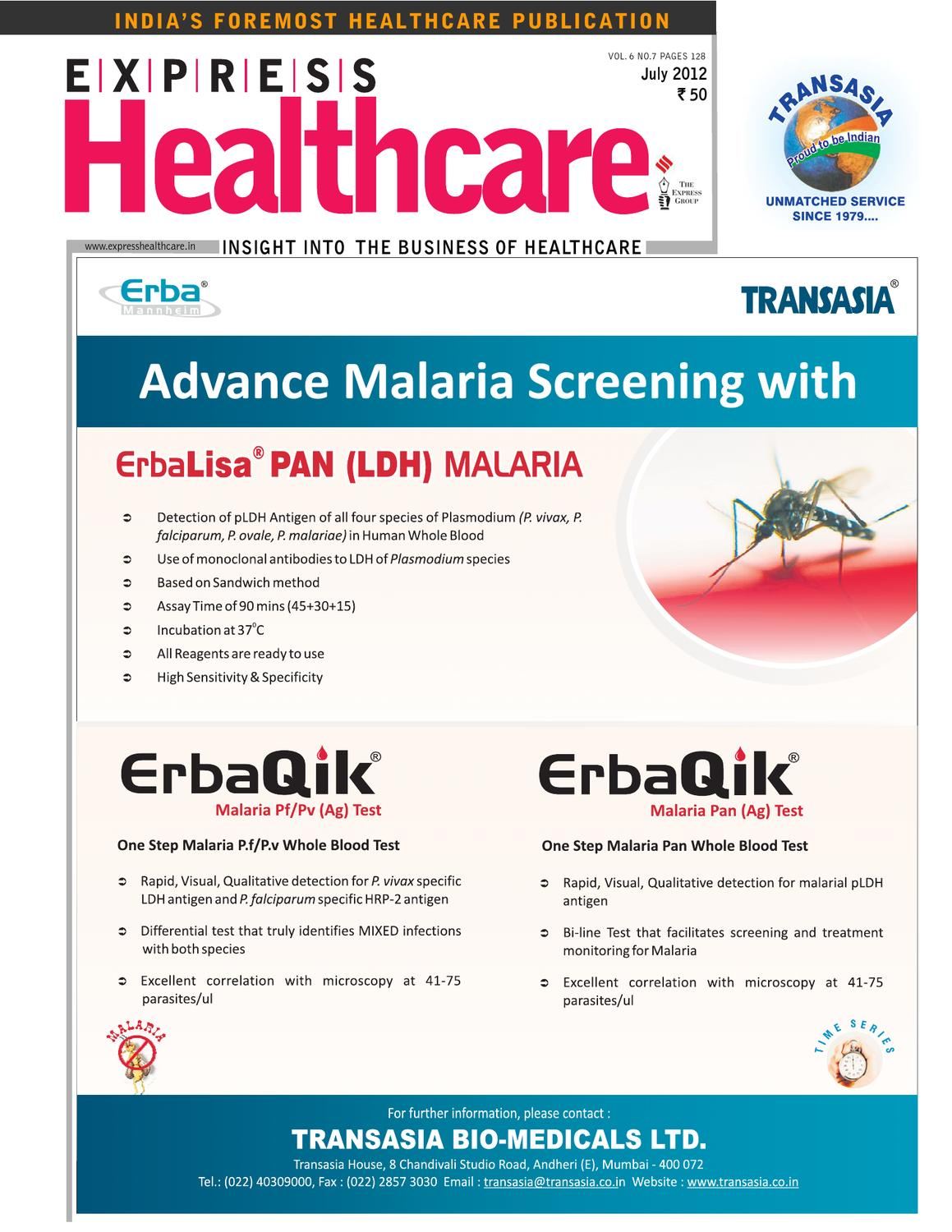 ISSUU - Express Healthcare July-2012 by Indian Express