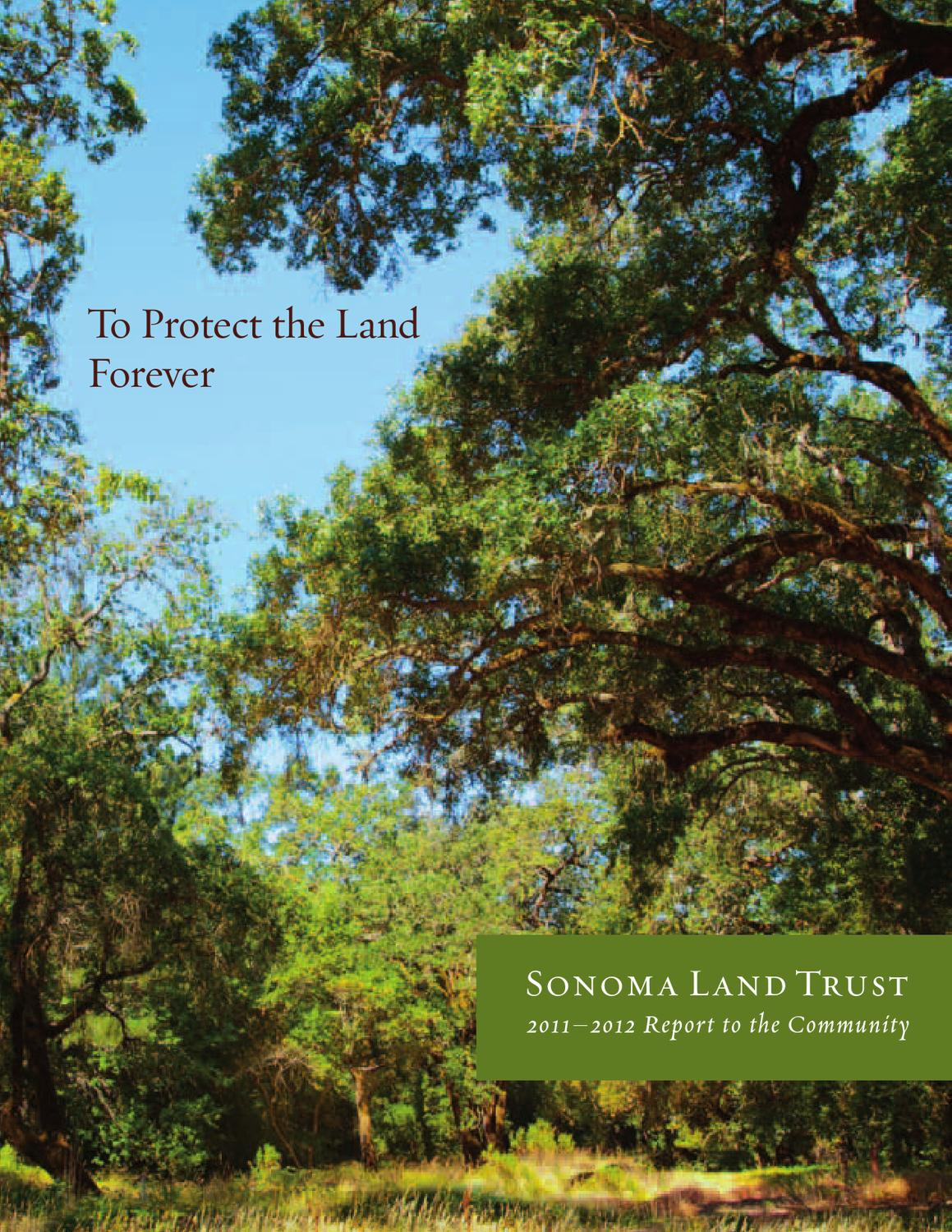 Issuu Sonoma Land Trust Annual Report 2011 12 By Athena Design