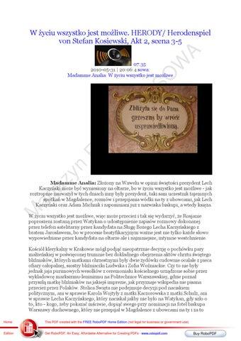 W zyciu wszystko jest mozliwe Akt 2 scena 3-5 HERODY/ Herodenspiel von Stefan Kosiewski