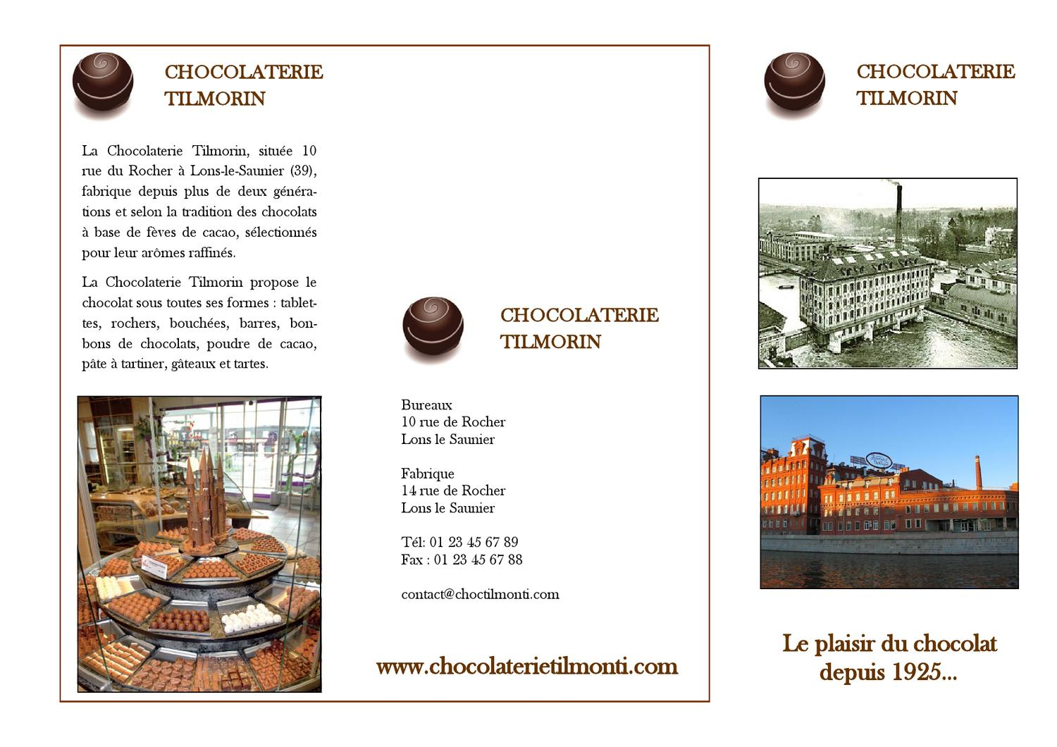 présentation chocolaterie Tilmorin by Almudena Olmo - issuu