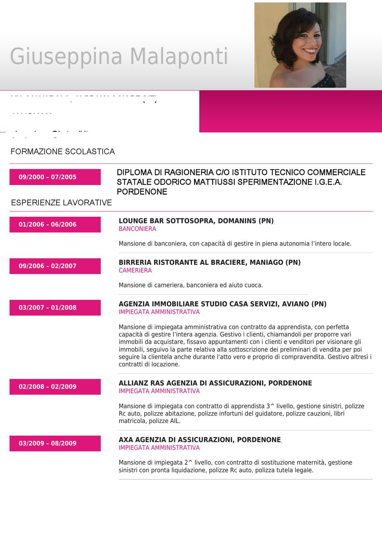 Issuu Curriculum Vitae By Giuseppina Malaponti