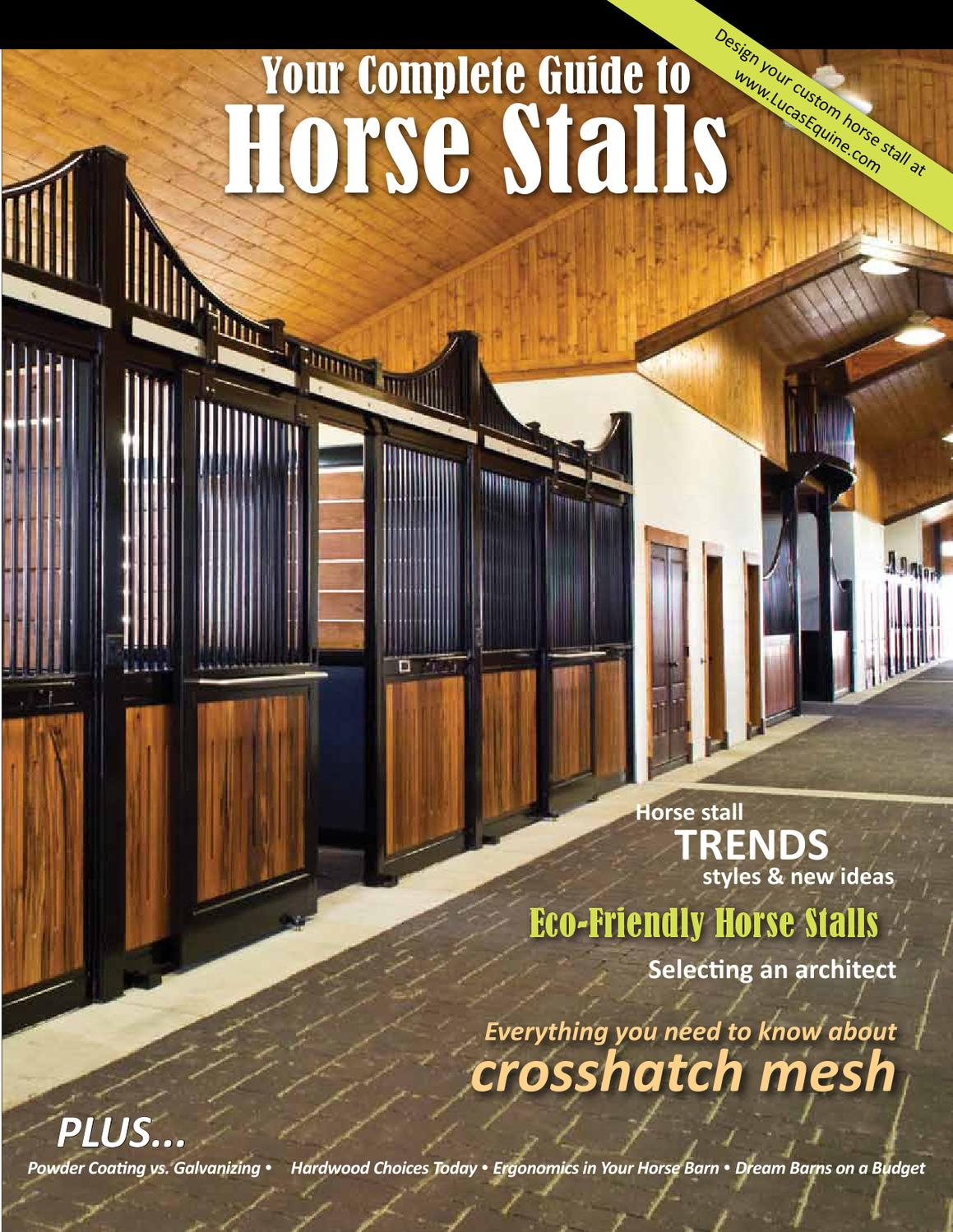 ISSUU - Complete Guide to Horse Stalls by Mandy Gossett