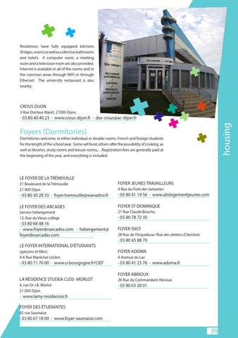 Issuu a practical guide for international student in for Foyer international des etudiantes
