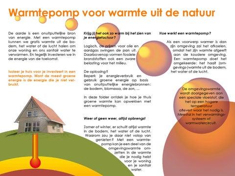Warmtepomp voor warmte uit de natuur