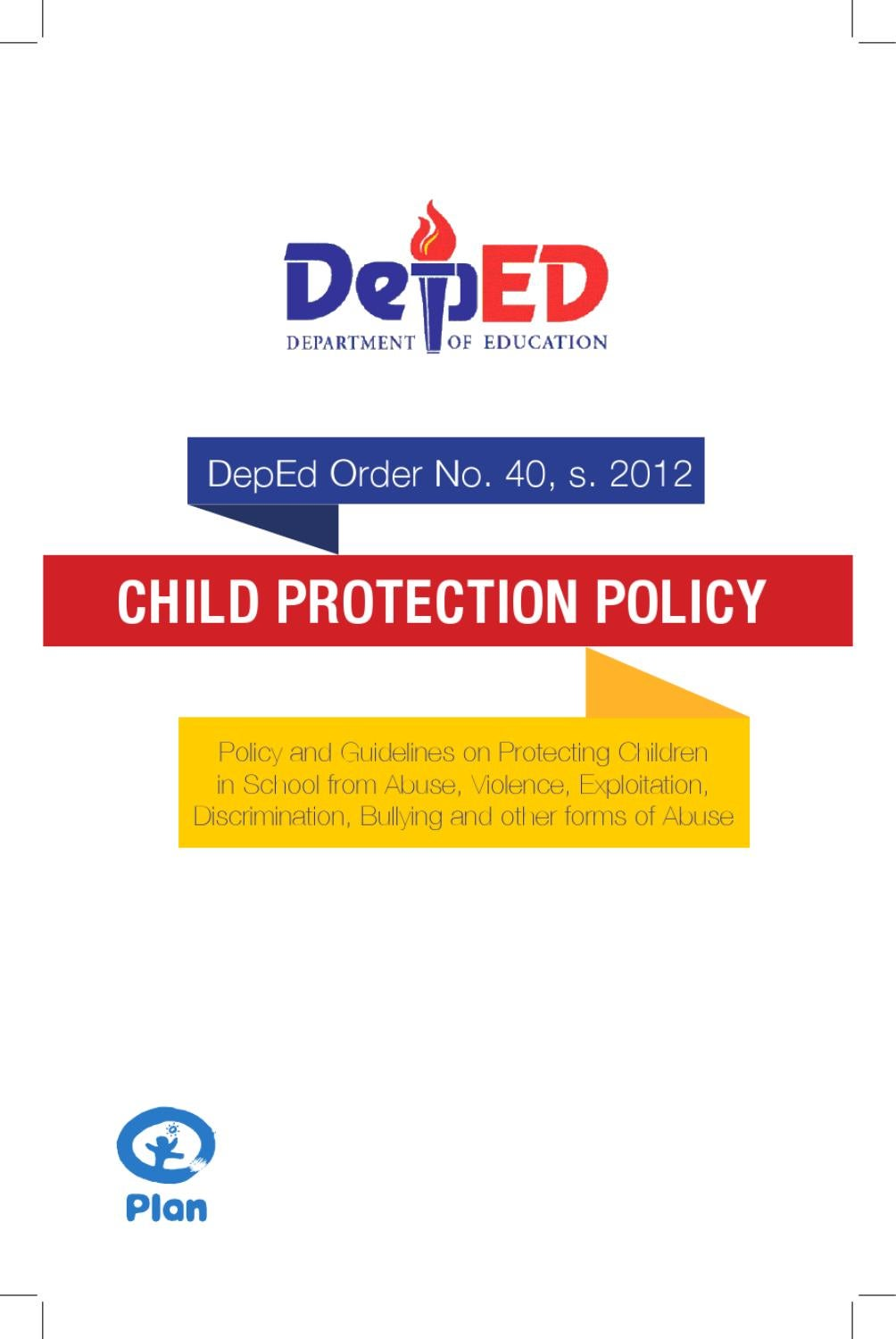 DepEd Child Protection Policy Booklet by DepEd Philippines - issuu