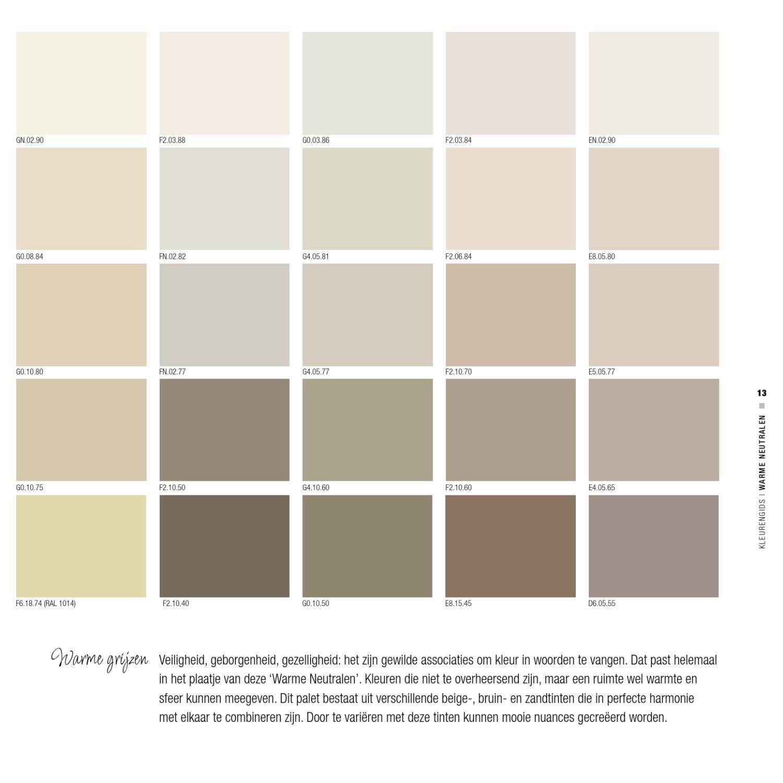 200 kleuren voor het interieur by avm page 13 issuu - Beige warme of koude kleur ...