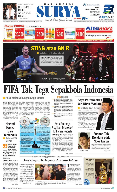 Terbit 20 halaman | Harian Pagi Surya ~ Spirit Baru Jawa Timur | Surya
