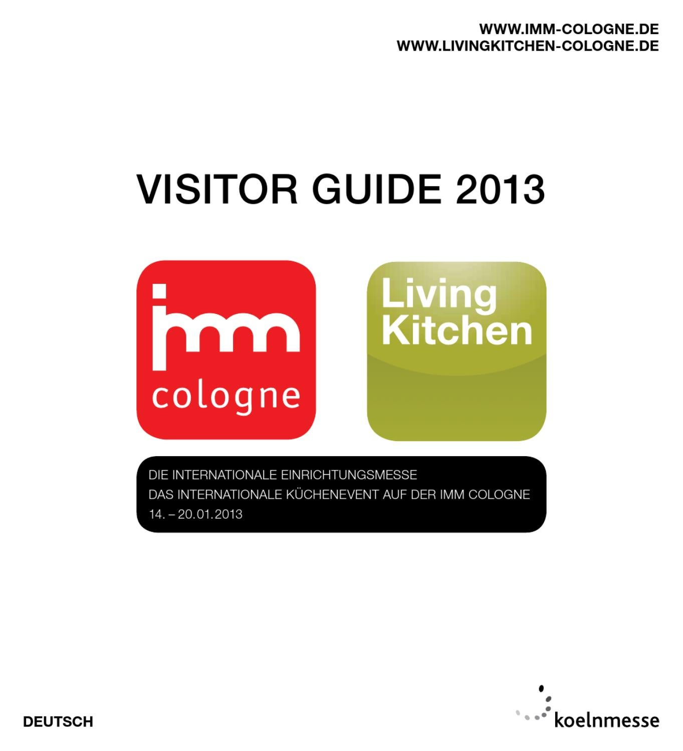 Visitor Guide imm cologne + LivingKitchen 2013 by ...