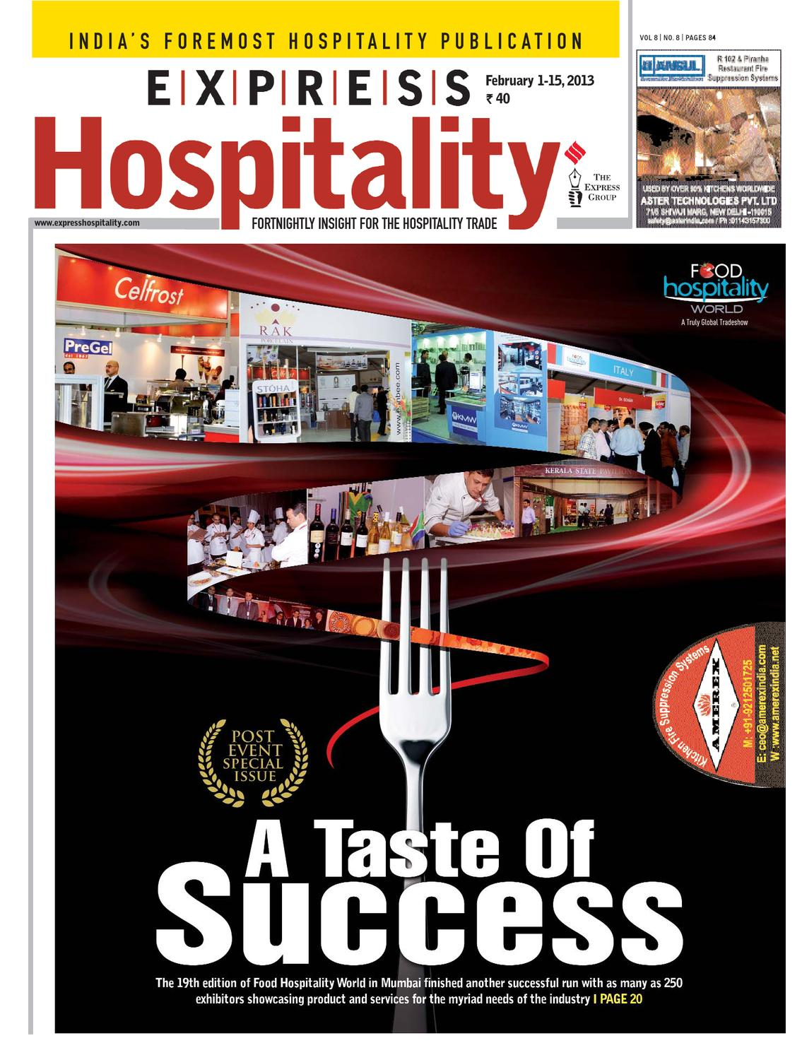 ISSUU - Express Hospitality February 1-15, 2013 by Indian Express