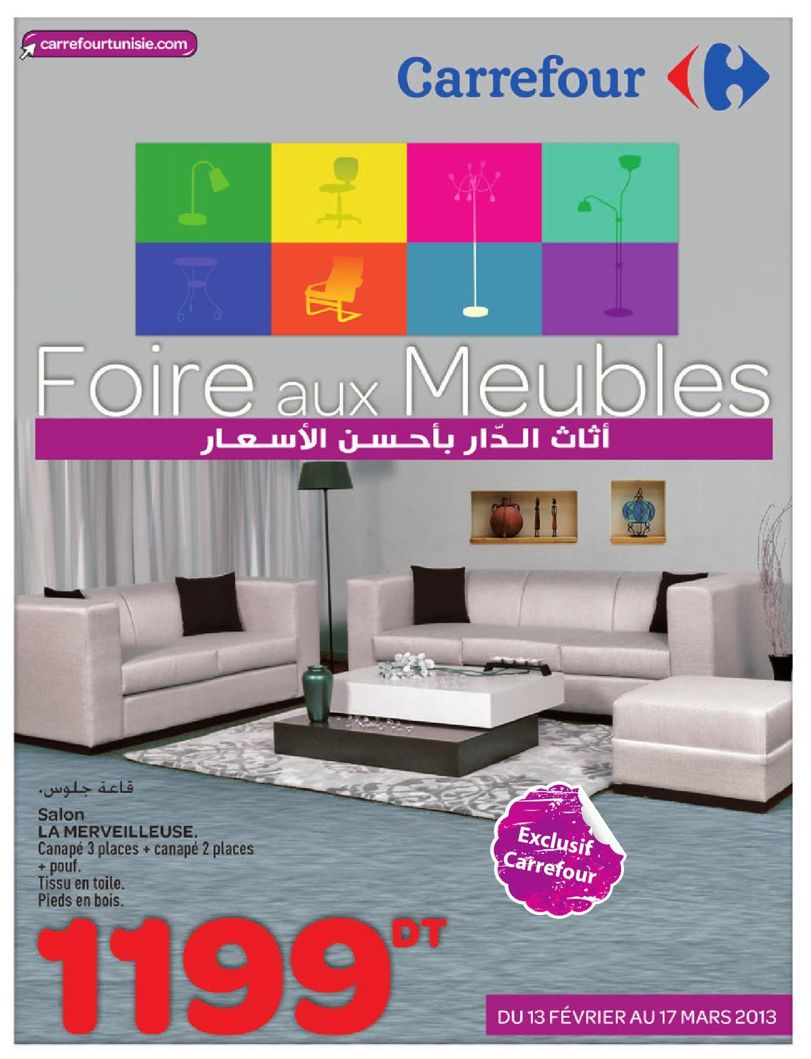 issuu catalogue carrefour foire aux meulbes by carrefour tunisie. Black Bedroom Furniture Sets. Home Design Ideas