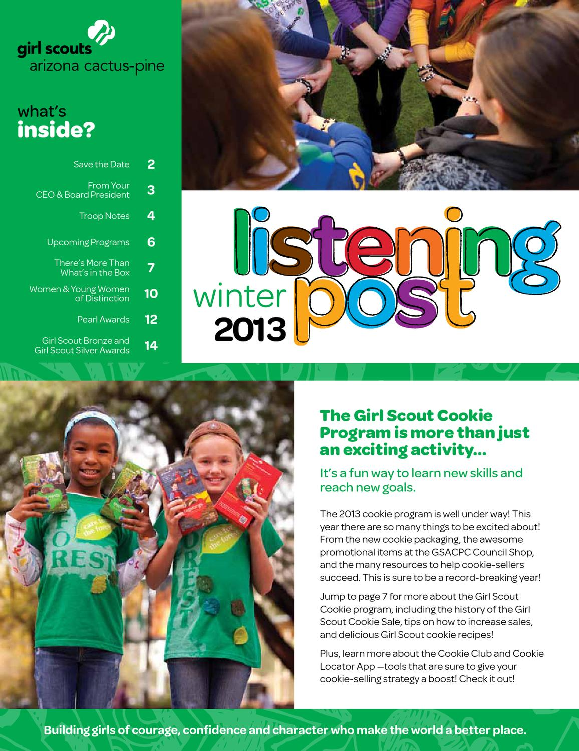 issuu   listening post winter 2012 13 by girl scouts