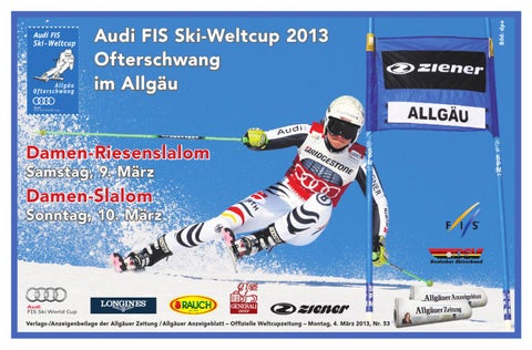 Das neue Programmheft zum FIS SKi Weltcup 2013 in Ofterschwang