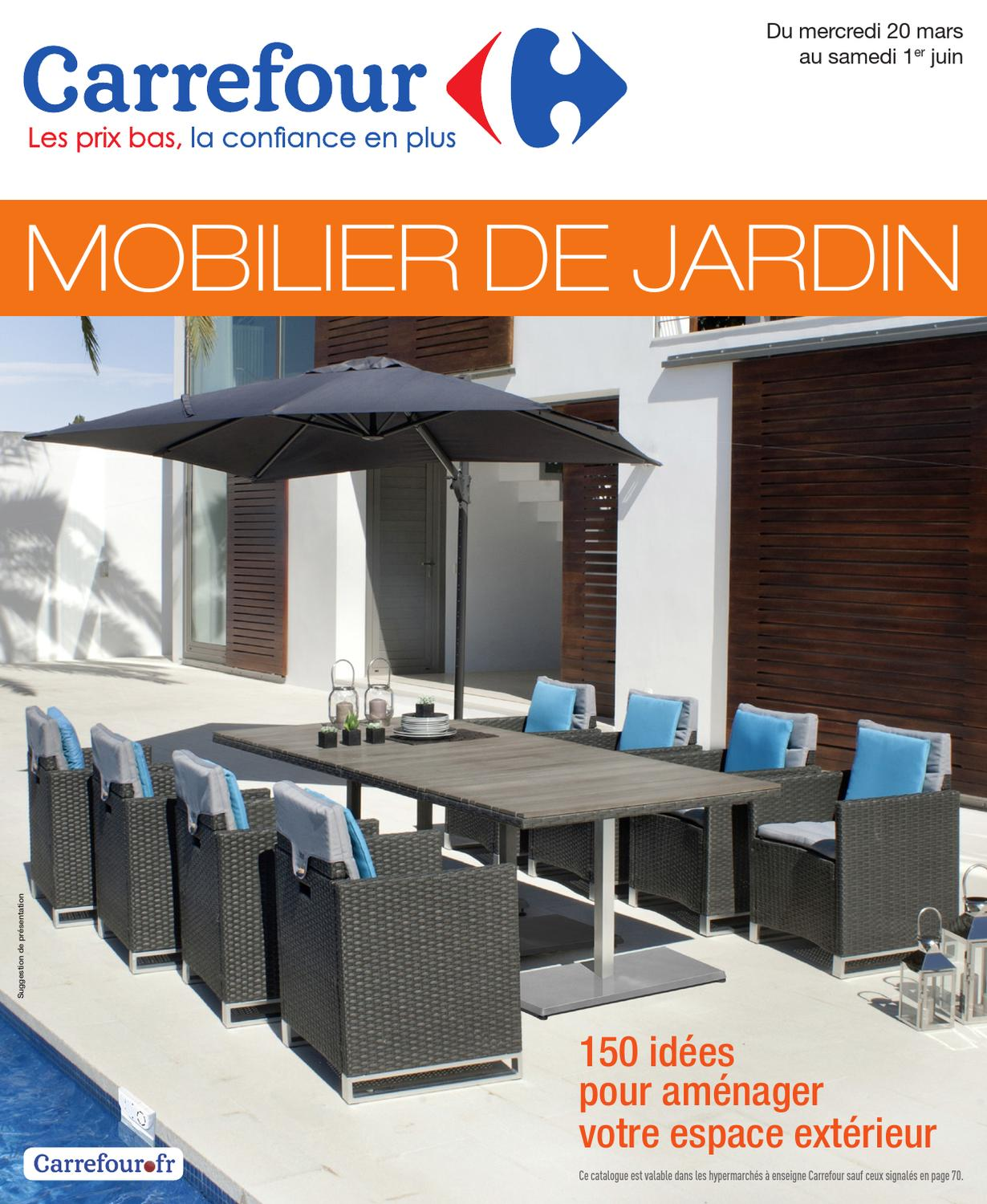 Salon de jardin acacia carrefour for Salon de jardin en resine carrefour