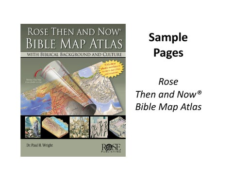 """Rose """"Then and Now"""" Bible Map Atlas -- Rose Publishing"""