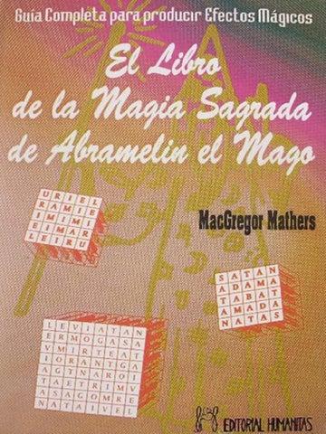 el libro de la magia sagrada de abremalin