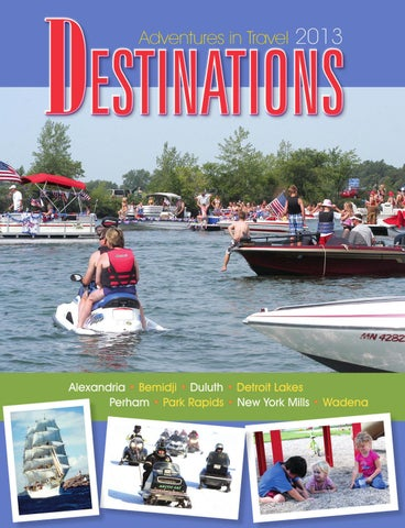 Minnesota Destinations - Adventures in Travel 2013 - Travel Guide Cover