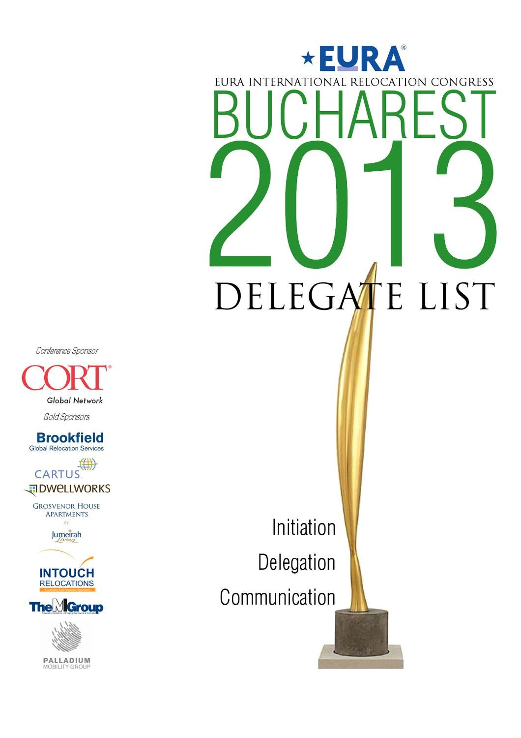 ISSUU - EuRA Delegate List Bucharest 2013 by Dominic Tidey