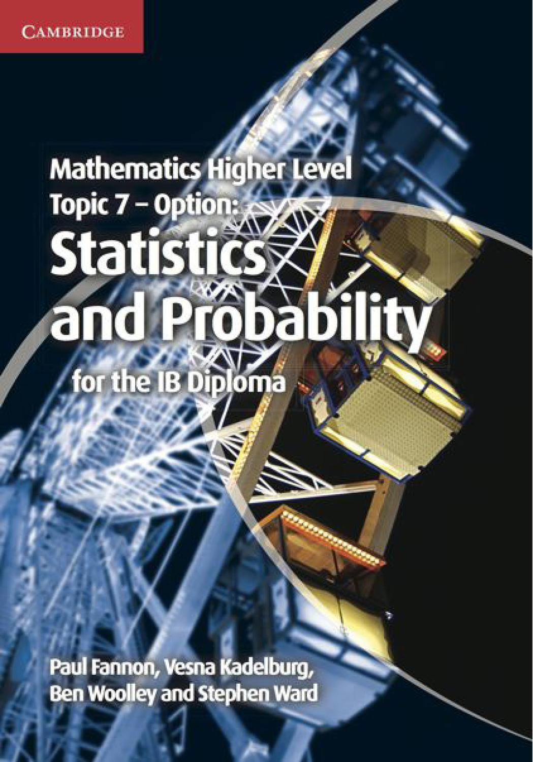 Mathematics for the ib diploma higher level 2 by douglas quadling