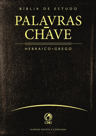 Biblia de Estudo Palavras-Chave