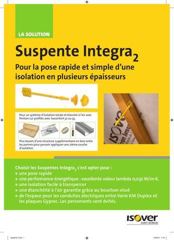 Isover suspente integra2 brochures habitos - Suspente integra 2 ...