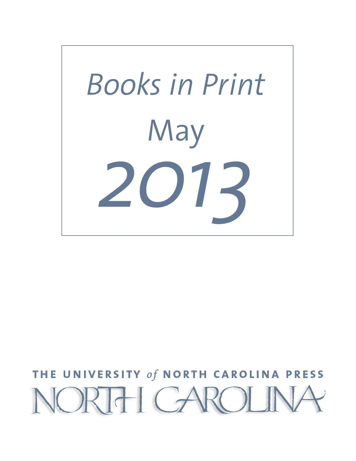 Issuu Unc Press Bip May 2013 By The University Of North