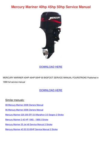 mariner magnum 40 manual pdf