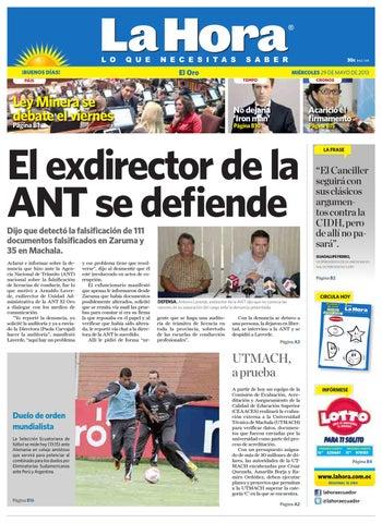 ISSUU - Diario La Hora El Oro 29 de Mayo 2013 by Diario La Hora