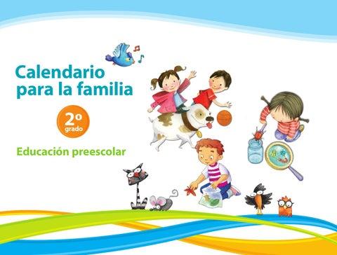 Calendario para la Familia 2do. Grado Preescolar