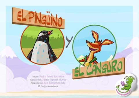 El pinguino y el canguro. Cuento infantil ilustrado