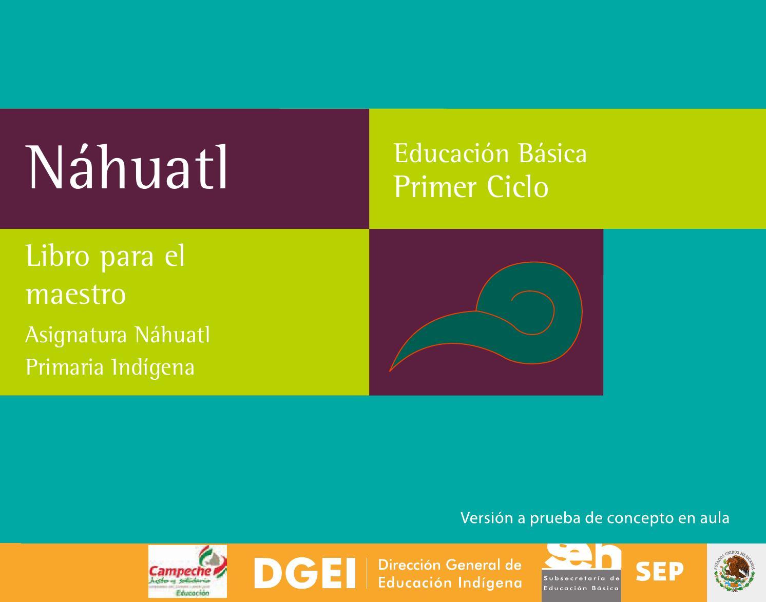 Nahuatl Palabras Indigenas De Mexico