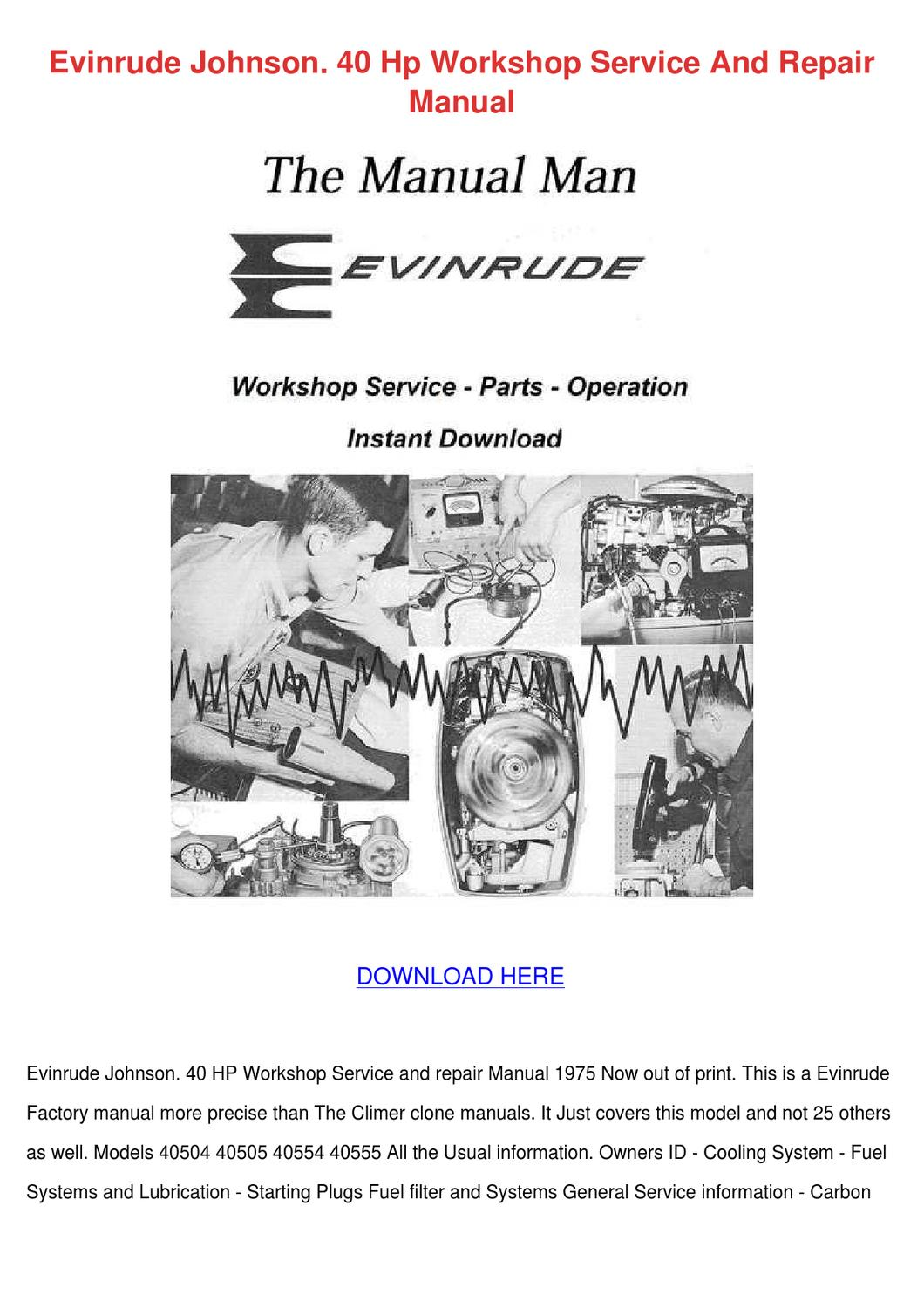 johnson outboard motor repair manual download