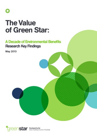 The Value of Green Star: A Decade of Environmental Benefits -- Green Building Council of Australia