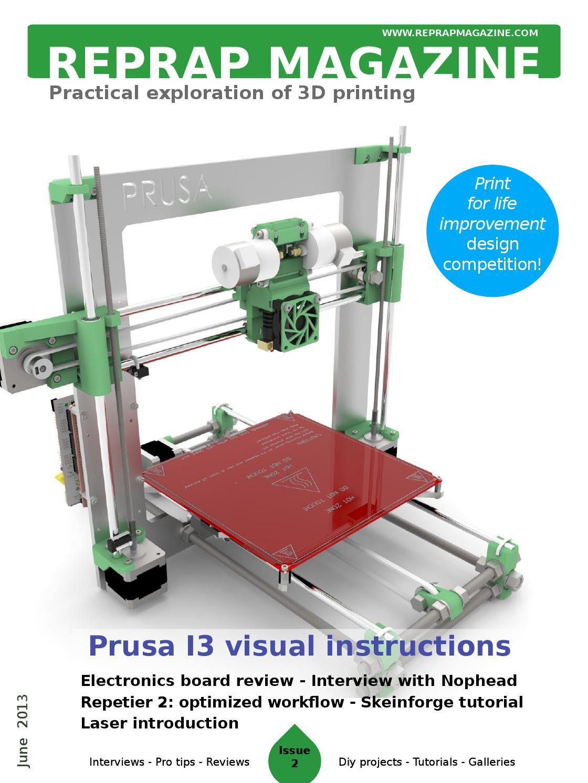 Issuu reprap magazine issue 2 by gary hodgson for 3d printer build plans