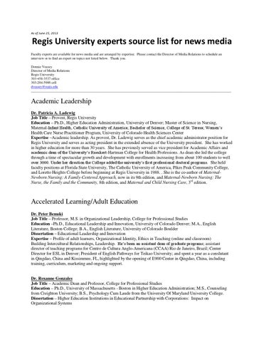 One Hundred Great Ideas for Higher Education | National
