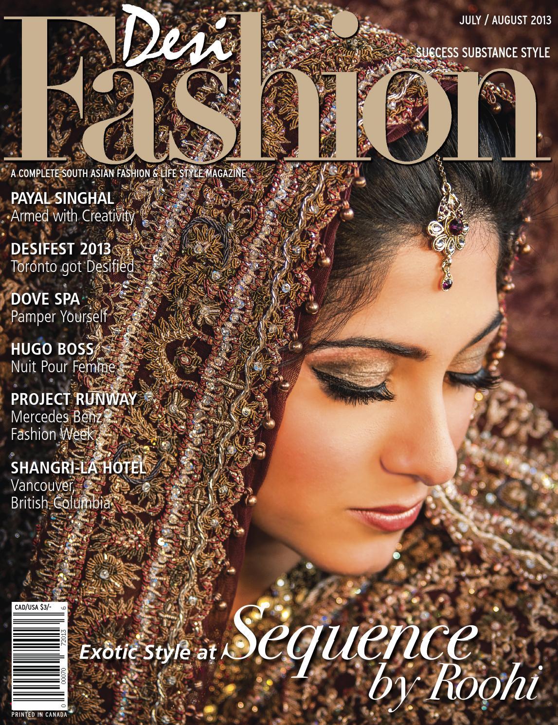 Issuu Desi Fashion Magazine July August 2013 By Desi Fashion Magazine Faizimedia Publishing