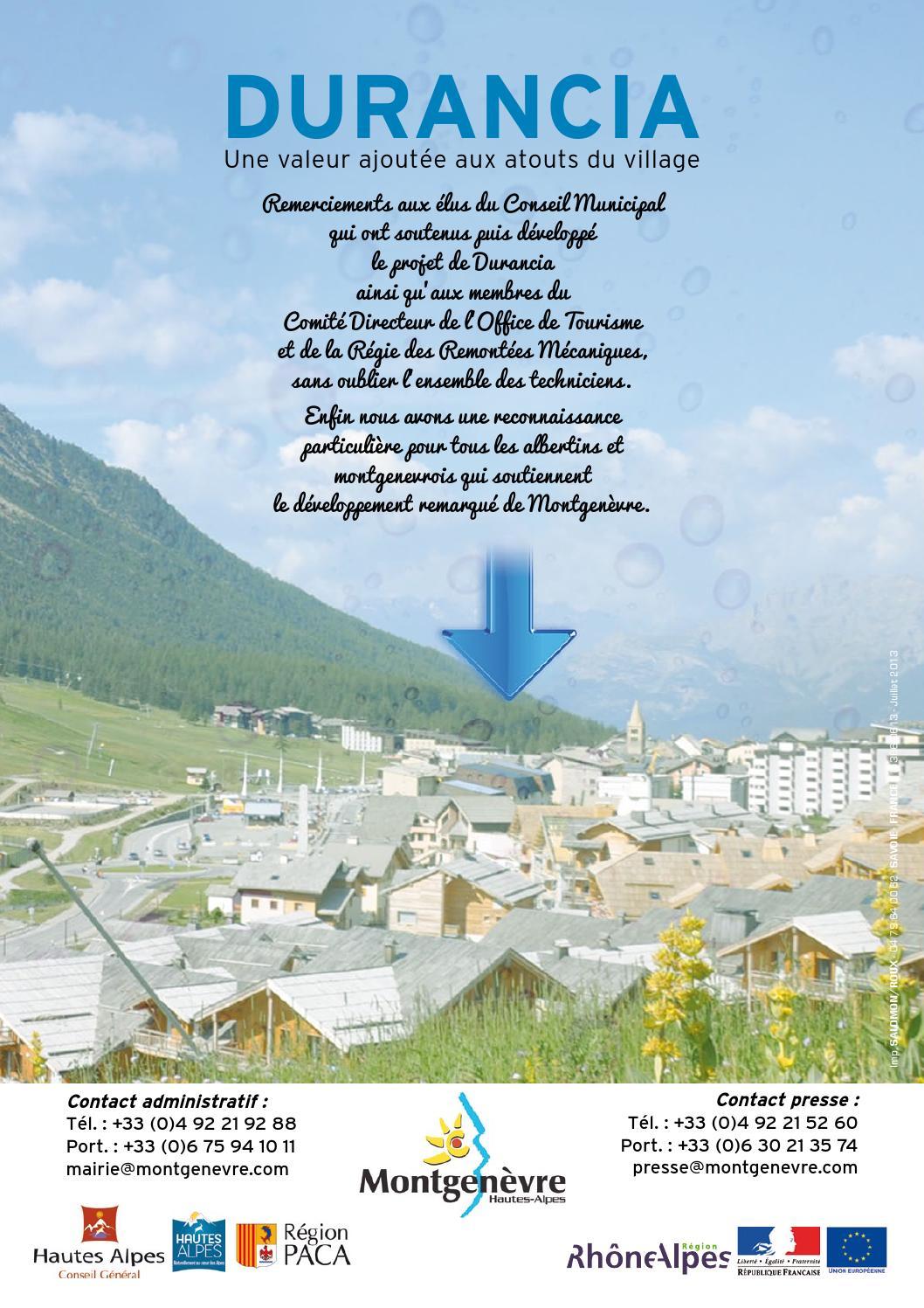 Issuu durancia by ot montgen vre - Montgenevre office de tourisme ...