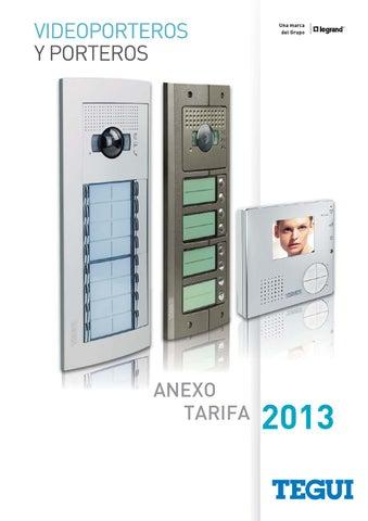 Issuu tarifa anexo abril 2013 tegui sfera new by gomez - Precio de videoporteros ...