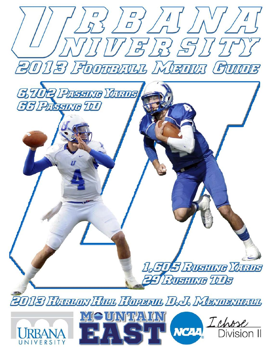 ISSUU - 2013 Urbana University Football Media Guide by ...