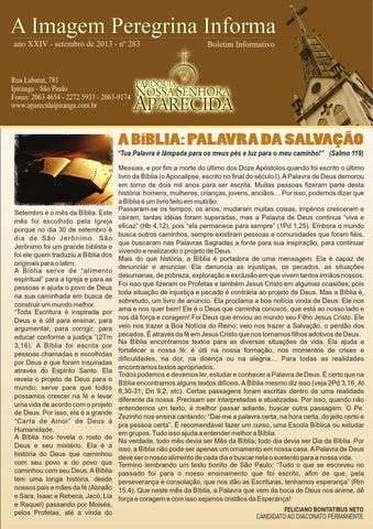 [A Imagem Peregrina Informa setembro/2013]