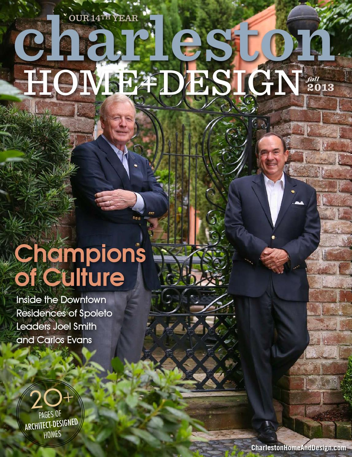 Charleston home design magazine fall 2013 by for Charleston home design magazine