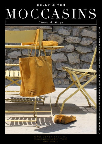 Moccasin catalog from DOLLY by Le Petit Tom ® - made in Italy