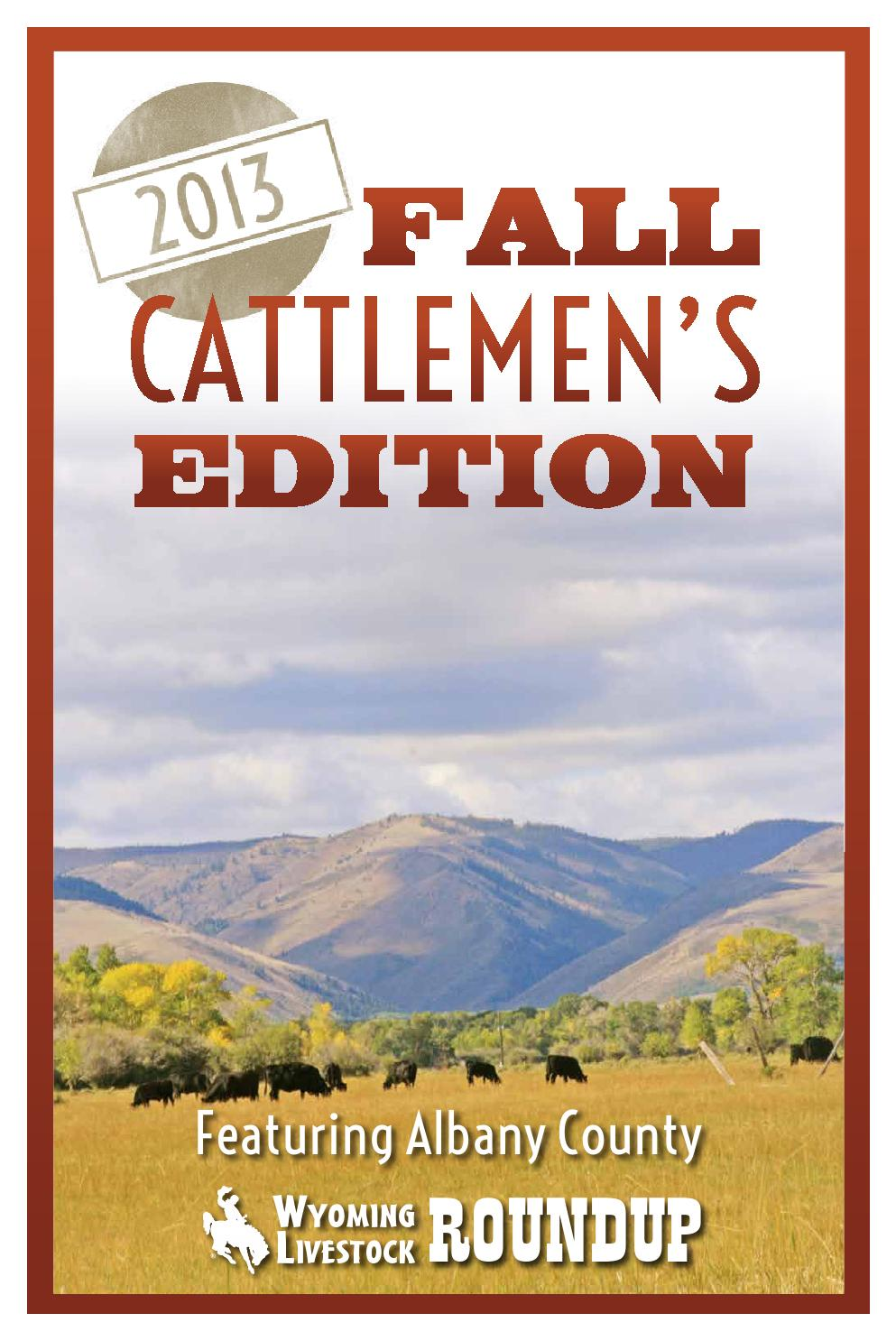 Issuu 2013 Fall Cattlemen S Edition By Wyoming Livestock Roundup