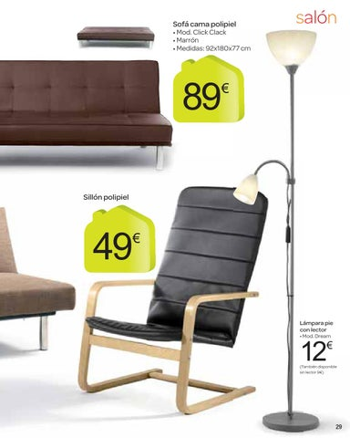 Issuu catalogo carrefour moda hogar octubre by carrefour for Sillon cama carrefour